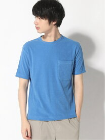 three dots Men's short sleeve pocket T / スビンコンパクト パイルポケットTシャツ スリードッツ カットソー Tシャツ ブルー ネイビー【送料無料】