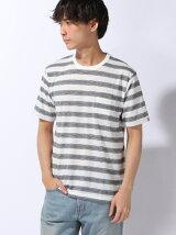 オンブレーボーダーTシャツ