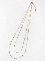 Jewel Casket メタル2連ネックレス