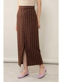 【SALE/50%OFF】ROSE BUD ストライプスカート ローズバッド スカート スカートその他 ブラウン ベージュ【送料無料】
