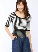 テレコ配色リングジップTシャツ