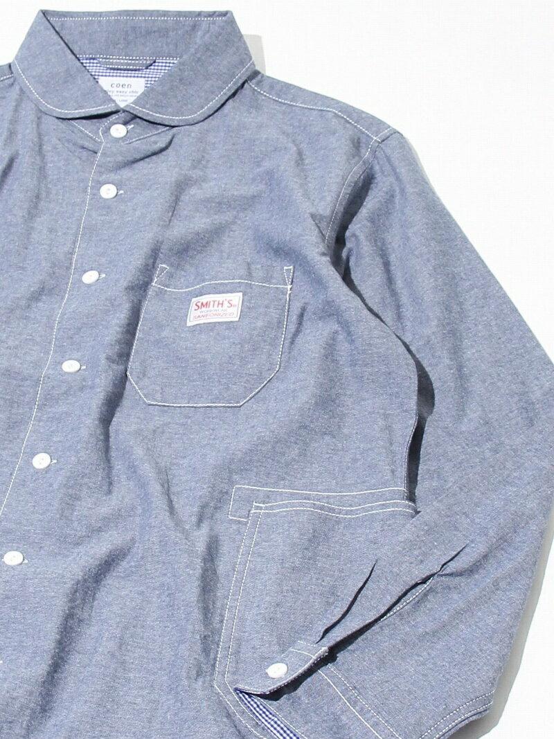 coen SMITH別注ショールカラーワークシャツ コーエン シャツ/ブラウス【送料無料】