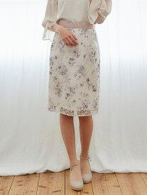 【SALE/69%OFF】MISCH MASCH 花柄レースタイトスカート ミッシュ マッシュ スカート タイトスカート ピンク ネイビー