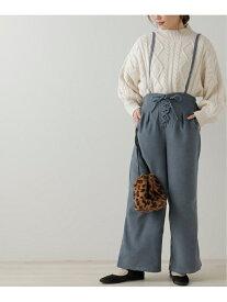 【SALE/52%OFF】frames RAY CASSIN ウエストレースアップサス付きパンツ レイカズン パンツ/ジーンズ フルレングス ブルー ピンク グレー ホワイト