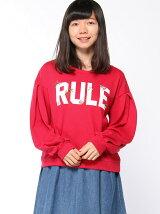 【RETRO GIRL】ロゴ&フラワー刺繍トレーナー
