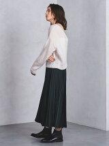 UWCS サテン プリーツ スカート