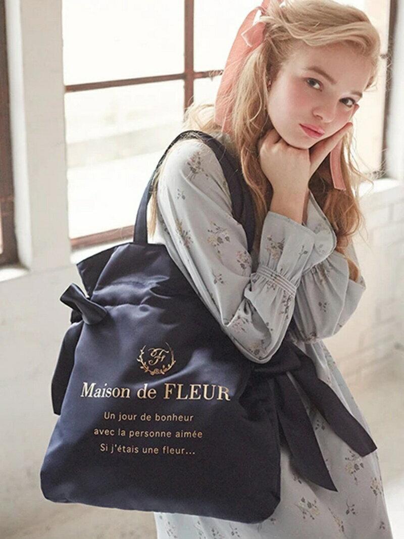Maison de FLEUR ダブルリボントートバッグ メゾン ド フルール バッグ【送料無料】