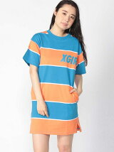 S/S STRIPED T DRESS