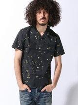 COLLARS/(M)鈴木恵三着用CLカスレプリント オープンカラーシャツ