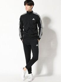 adidas Sports Performance PRIMEGREEN エッセンシャルズ 3ストライプス トラックスーツ [Primegreen Essentials 3-Stripes Track Suit] アディダス アディダス スポーツ/水着 ジャージ ブラック ネイビー【送料無料】
