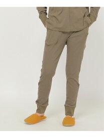 IKKA LOUNGE WOMENS ワッフル裾リブパンツ イッカ パンツ/ジーンズ パンツその他 ブラウン ベージュ【送料無料】