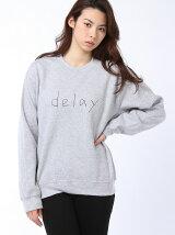 """【W】GD クルースウェット""""delay"""""""