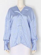 オープンネックリラックスシャツ