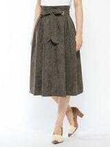 EMILYAN スカート/(W)フェイクスエードフレアースカート