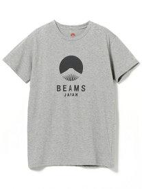 BEAMS JAPAN BEAMS JAPAN / ビームス ジャパン ロゴTシャツ ビームス ジャパン カットソー Tシャツ グレー ホワイト ネイビー【送料無料】