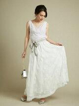 刺繍ミディスカート