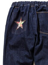 Star Flower Easy Denim Pants -On