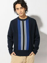 (M)VERTICAL CENTER STRIPED SWEATER