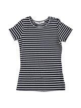 aimoha/ベーシックショートスリーブクルーネックTシャツ[無地/ボーダー]