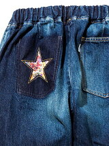 Star Flower Easy Denim Pants -Vi