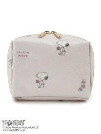 gelato pique 【PEANUTS】メイクポーチ ジェラートピケ バッグ ポーチ ピンク ネイビー