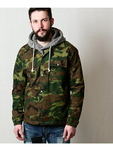 CAMOUFLAGE RIP-STOP CLOTH / ONE WASH COACH JACKET