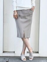 ダブルクロス2WAY裾スリットロングタイトスカート