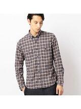 ストレッチネルチェックシャツ