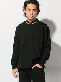 【SALE/60%OFF】OVAL DICE ネックプリントモックネックトレーナー スペンディーズストア カットソー Tシャツ ブラック ホワイト