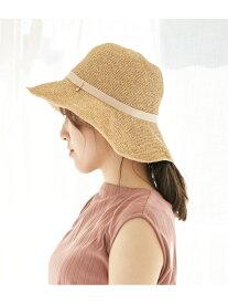【SALE/55%OFF】ROPE' PICNIC PASSAGE 【UVケア】細編みリボンダウンハット ロペピクニック 帽子/ヘア小物 ハット ベージュ ブラウン
