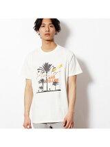 発泡+ラバープリント半袖Tシャツ