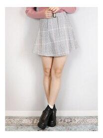 【SALE/53%OFF】dazzlin ベルト付ミニスカート ダズリン スカート フレアスカート グレー ブラック ブラウン ベージュ