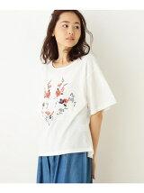 フロント刺繍ゆるシルエットTシャツ