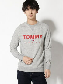 【SALE/50%OFF】TOMMY JEANS (M)TOMMY HILFIGER(トミーヒルフィガー) メランジスウェット トミーヒルフィガー カットソー スウェット グレー ネイビー【送料無料】