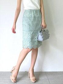 【SALE/29%OFF】MISCH MASCH レースタイトスカート ミッシュ マッシュ スカート タイトスカート グリーン ブルー ネイビー パープル【送料無料】