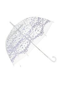 Francfranc プリュイ ビニール傘 スカーフ 58cm フランフラン ファッショングッズ 長傘 パープル