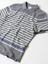 ナバルボーダーマリンポロシャツ