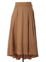 《WEB限定大きいサイズ》バックロングストレッチフレアスカート