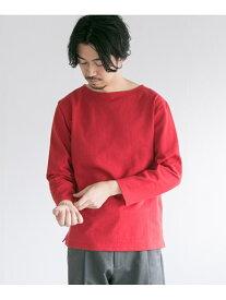 【SALE/50%OFF】URBAN RESEARCH バスクシャツ アーバンリサーチ カットソー Tシャツ レッド ホワイト ベージュ