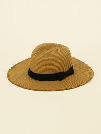 【SALE/34%OFF】DAISY MERRY ペーパーブレードフリンジ中折れ帽 デイジーメリー 帽子/ヘア小物 ハット ブラウン ベージュ ブラック