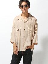 オープンカラー7分袖シャツ