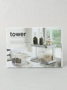 tower (タワー)/tower (タワー) 調味料ストッカー&ラック2個セット