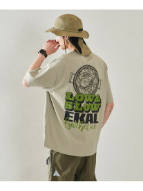 【SALE/60%OFF】EKAL EKAL LOW&SLOW PRINT T-SHIRTS アーバンリサーチドアーズ カットソー Tシャツ グリーン ホワイト