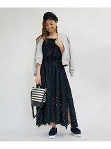 《sweetコラボアイテム》スカラップレースロングドレス