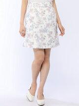 グログラン花柄ZIPタイトスカート