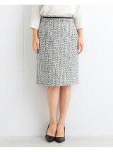 【予約】ビーミング by ビームス / ツイードタイト スカート 18MO BEAMS 入学式 スーツ