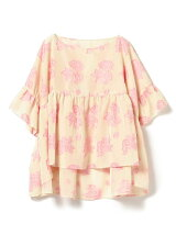 maturely / Flower Jacquard Smock