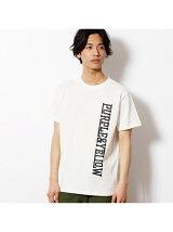 縦ロゴプリント半袖Tシャツ