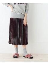 マルチストライププリーツスカート