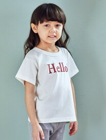 UNITED ARROWS green label relaxing 【キッズ】〔吸水速乾〕HELLO Tシャツ ユナイテッドアローズ グリーンレーベルリラクシング カットソー
